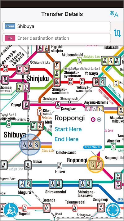 Tokyo Subway Map Interactive