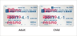 <p>Valid for one day, specified by the customer, from the first train to the last train of the day for all of the Tokyo Metro lines.</p>