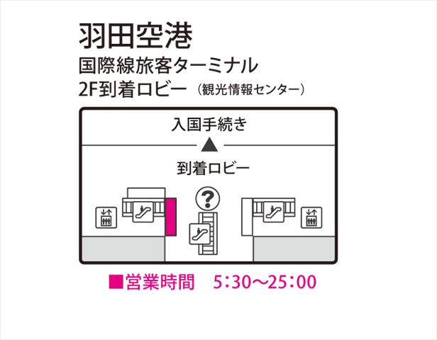 羽田空港旅客ターミナル2F到着ロビー(観光情報センター)
