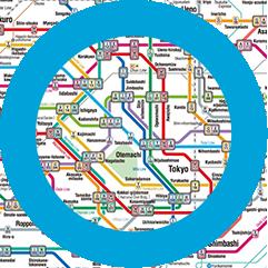 Japanese Subway Map.Tokyo Metro Home