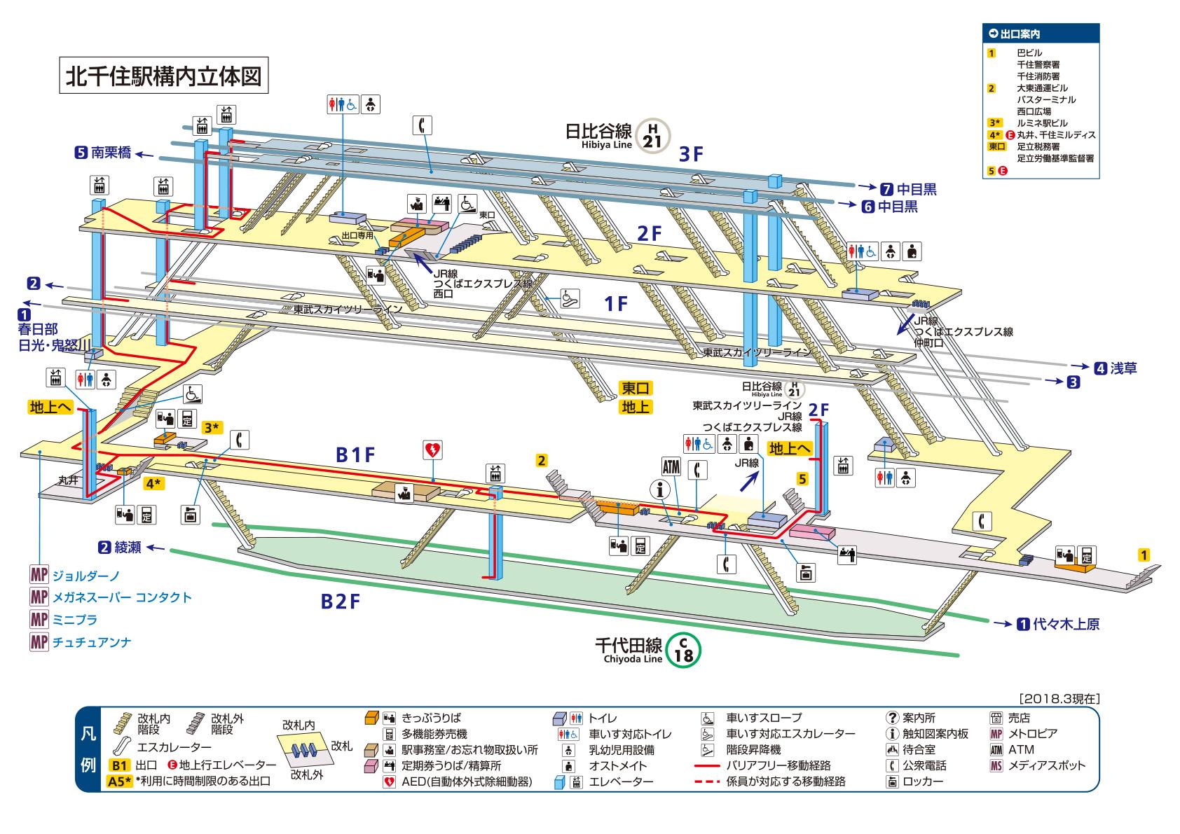 構内図 | 北千住駅/H21/C18 | 東...