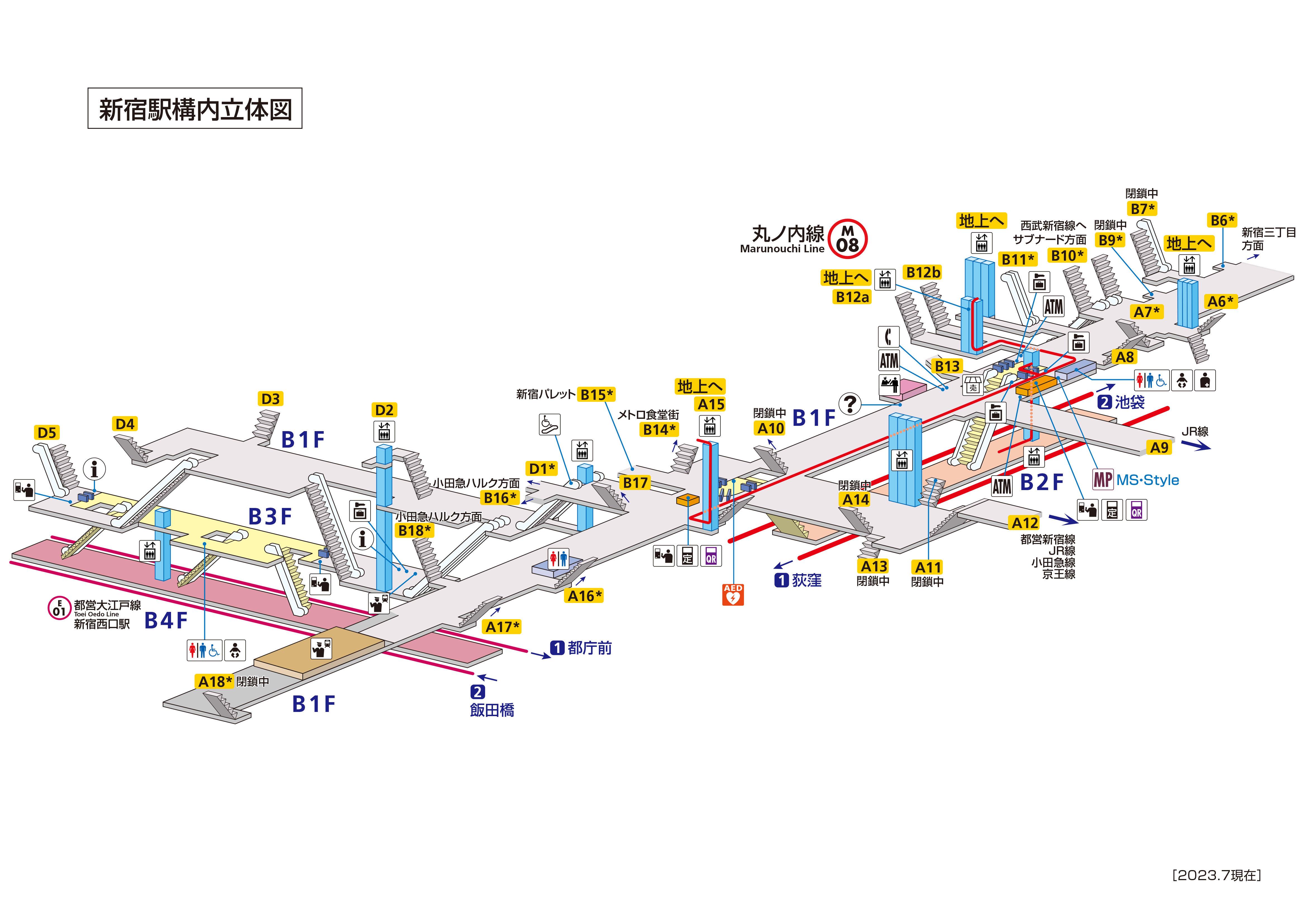 図 路線 新宿 西武 線